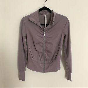 Lululemon Ruched Front Full Zip Jacket Purple 4